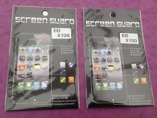 2 x Blackberry BB 9700  Clear Durable Anti-Scratch Clear Screen Protector  NEW