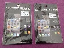2 X Blackberry Bb 9700 claro durable anti-arañazos claro Protector de pantalla NUEVO