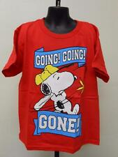 "NEW PEANUTS SNOOPY ""going going gone"" Youth Kids M MEDIUM size 8 T-SHIRT"