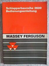 Massey Ferguson Schlepper 3635 + 3645 + 3655 + 3670 + 3690 Betriebsanleitung