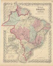 "1860 Colton's  ""Brazil & Guayana""-original, ex-atlas"