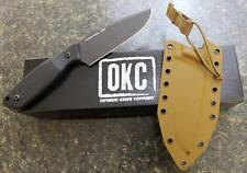 Ontario OKC 1775 Cerberus Fixed Blade Tactical Knife D2 Blade Custom Sheath USA!