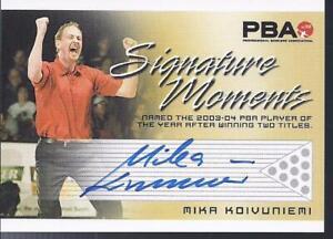 2008 PBA Bowling Autograph Signature Moments Mika Koivuniemi