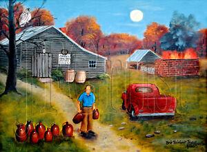 Burlon Craig Folk Art 12 x 16 Print Red Shirt Pottery Kiln Americana Arie Taylor