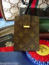 RARE Vintage LOUIS VUITTON European Checkbook Wallet Notebook Cover Agenda LV