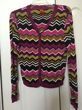 Missoni For Target L Large Sweater Cardigan Purple Pink
