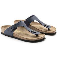 Donna Birkenstock Toe Thong Footbed Sandali Blu UK 7