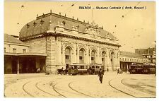 Milan Italy -TROLLEY AT STAZIONE CENTRALE- Postcard Milano Central Station