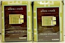 "LOT of 2 allen + roth Calendale 54"" x 84"" Green Curtin Panel 0382692 NEW"