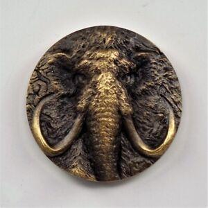 China Shanghai Mint 2015 Ancient Life Mammoth Brass Medal 50mm COA