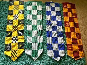 Lot of 4 HUGE Harry Potter Banner Pennant Flags MUST SEE
