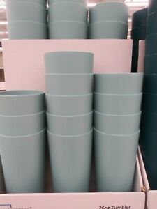 Mainstay Gray Plastic Cups 26 oz Tumbler BPA NEW 6 pieces