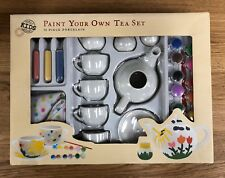 World Market Kids Paint Your Own Tea Set 32 Piece Porcelain Craft Set