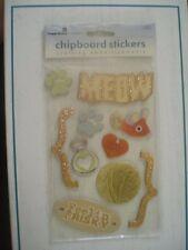 CHIPBOARD ANIMALS CATS SCRAPBOOK STICKERS