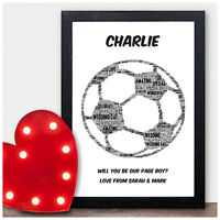 Will You Be My Page Boy Usher Best Man Wedding Gifts Personalised Football Print