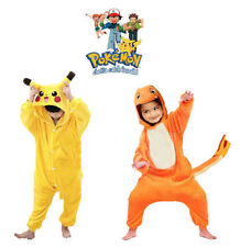 Kids Pyjamas Cosplay Costume Pokemon Pikachu Romper Pajamas Kigurumi &Charmander