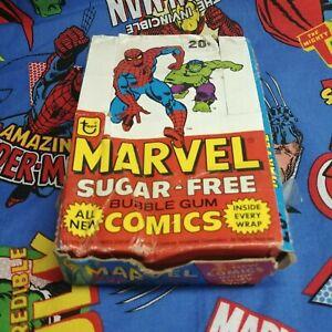 1978 Marvel Sugar-Free Bubble Gum Comics Box 24
