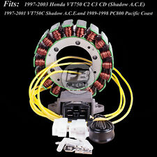 Stator + Voltage Regulator Rectifier for 98-00 HONDA VT750CD SHADOW ACE DELUXE