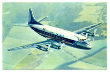 "1956 Air FRANCE Airlines Original Postcard Vickers ""Viscount"""