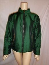 ARMANI COLLEZIONI Womens 14 GORGEOUS EMERALD GREEN Jacket Lightweight Coat