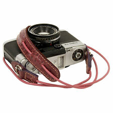 Wine leather cord neck strap for RF film Digital camera NEX E-P X10 Nikon Leica