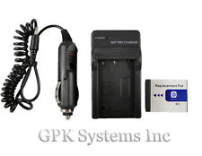 Battery NP-BD1 NP-FD1  + Charger  Sony Cyber-shot DSC-T300  Digital Camera