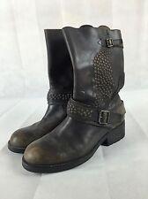 Bottes boots ASH pointure 40 en cuir marron cloutés