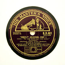 "LOUIS LEVY GAUMONT BRITISH SYMPHONY ""Firefly - Selection"" (E+) HMV BD-461 [78]"