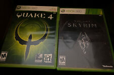 XBOX 360 Lot Of 2 Games—Quake 4, Skyrim—Complete, Rated M