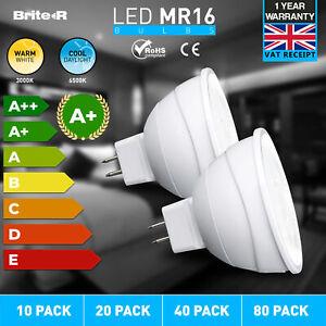 10x 3W 5W MR16 GU5.3 LED SMD Bulbs Spotlights Cool Warm White Downlights Lamps