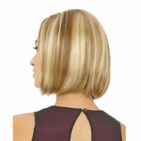 Women Hair Short Bob Wigs Straight Ash Blonde Hair Wig Cosplay Daily Party Wig