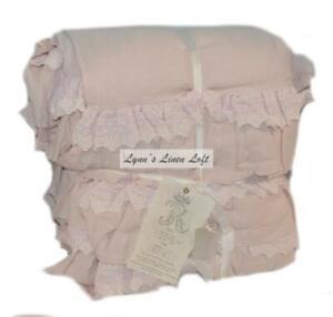 RACHEL ASHWELL COUTURE Petticoat Blush FULL/ QUEEN DUVET Shabby Chic