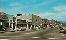 Vintage Postcard - Main Street - Willits California