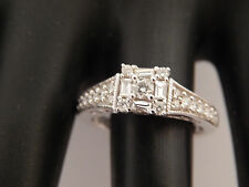 .75 Keepsake Illusion Mix Cuts Diamond Engagement Ring Designer 14k WG G/SI