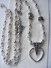 Nurse  Heart Medical Caduceus ID Badge Tag Eyeglass Key Holder Necklace Lanyard