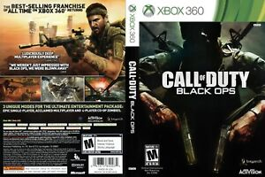 - Call of Duty: Black Ops Xbox 360 Replacement Game Cover Art Work