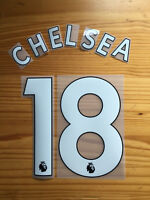 Chelsea Shirt Name & Number set 2018-19 white Black Adult PLAYER / YOUTH