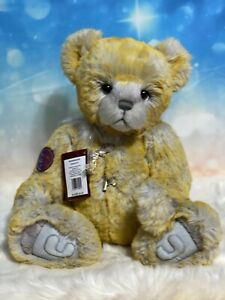 """HONEYBUNCH Charlie Bears  A Tyber Fur Bear Fully Jointed And 16""""."""