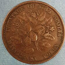 1856 Nova Scotia Half Penny Token   ID #95-24