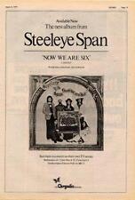Steeleye Span Now We Are Six UK TV advert 1974