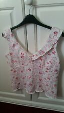 PER UNA size 14 White floral summer Cami Vest Top. Marks and Spencer