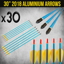 """30X 30"""" ALUMINIUM ARROWS FOR COMPOUND OR RECURVE BOW TARGET ARCHERY NEW"""