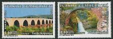 Historic Bridges set of two semi-postal stamps mnh 2014 Turkey #B307-8