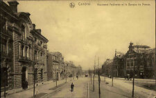 Cambrai Banque de France Feldpostkarte 1917 mit K.D. Feldpost Blindstempel 1. WK