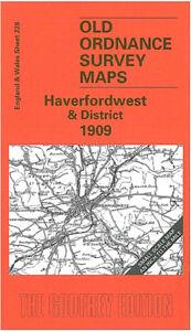 Old Ordnance Survey Map Haverfordwest & District 1909 - Wales Sheet 228