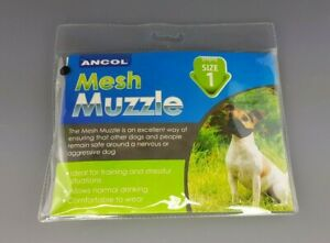 Ancol Soft Dog Mesh Muzzle Nylon Breathable Comfortable Sizes 1