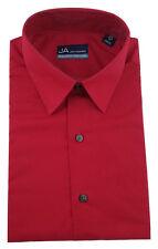 John Ashford MEN'S Solid  RED Dress Shirt REGULAR FIT 16 34/35 NWT