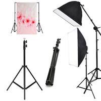 Photo Studio Continuous Lighting Light Stand Kit Umbrella Backdrop Background