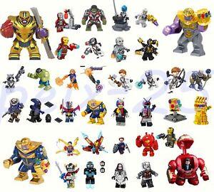 Avengers Minifigures Superheroes Thanos Iron Man Hulk Building Blocks Bricks Toy