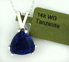 GEMSTONE 2.37 Cts TANZANITE PENDANT 14K WHITE GOLD ** New With Tag *